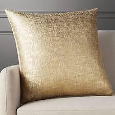 gold pillows cb2