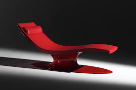 Red Leather Chaise Lounge Chairs Chaise Longue Red Passion 1