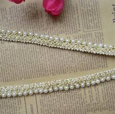 pearl lace 1 yd vintage pearl embroidered lace edge trim ribbon wedding