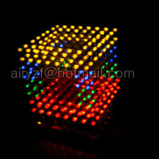 diy 3d 8s led multicolor light cube with excellent animations 3d