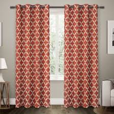 Geometric Orange Curtains Modern Orange Curtains Drapes Allmodern