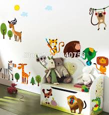 stickers animaux chambre b stickers animaux jungle savane sticker enfant animaux with
