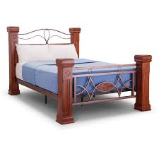 Wood And Metal Bed Frame Ambers International Omega Wooden And Metal Bed Frame Wooden Bed