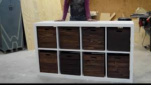 How To Build A Wood Toy Chest by Diy Toy Storage Unit With Wooden Crates Youtube