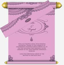 4 best images of scroll style wedding invitation wedding