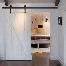 Closet Door Hardware New 6 Ft Black Modern Antique Style Sliding Barn Wood Door