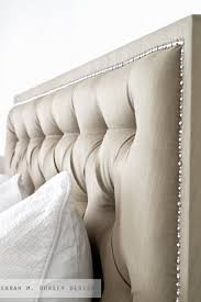 Tufted Headboard King Tufted Headboard With Nailhead How To