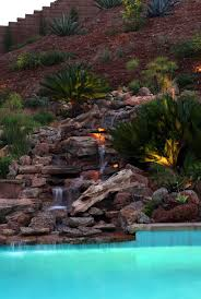 architecture waterfalls for backyards in rustic landscape with