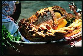 cuisiner la poularde recette poularde en pâte sauce sabayon au chagne