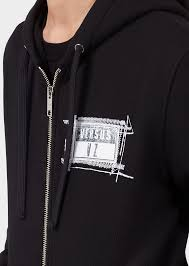 versus versace zxv logo zip hoodie for men us online store