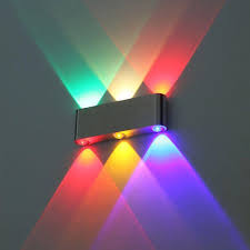 2018 modern 6w wall light multi color up sconce lighting spot