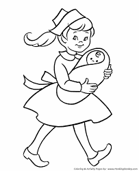 pre k coloring pages free printable nurse and baby kindergartner