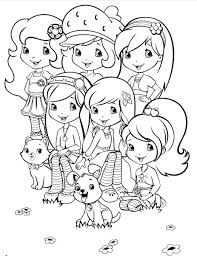 coloring pages of strawberry shortcake and best friends pictures