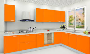 kitchen cabinet and wall color combinations white wall color and modern orange kitchen cabinet for best kitchen