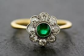 vintage rings designs images Vintage emerald ring antique emerald engagement rings design jpg