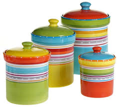 Kitchen Canisters Set Of 4 Details About Mariachi Multi Size Multi Color Food Storage Kitchen