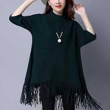 black fringe sweater plain black fringe poncho sweater for batwing sleeve