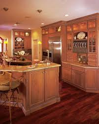 furniture peru wooden aristokraft cabinets with tv stand and open sandy brown wooden aristokraft cabinets matched with marble countertop and wooden floor for kitchen decor ideas