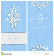 Christmas Invitation Card Vector Blue Floral 3d Background Template For Christmas And