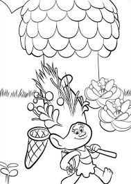 kids fun 26 coloring pages trolls