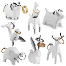 art glass rabbit ring holder images Umbra anigram white chrome ring holder animal jewelry wedding jpg