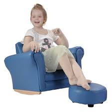 goplus kids sofa with footstool armrest chair couch childrens