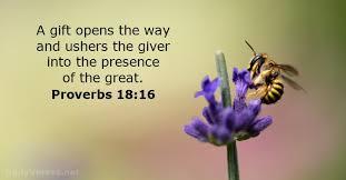proverbs 18 16 bible verse dailyverses net