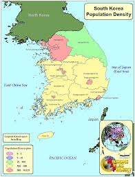 Map Of South Korea South Korea Population Map 必应 Images