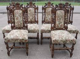 Victorian Dining Chairs Set Of Six Victorian Carved Oak Highback Dining Chairs 201517