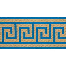 greek key home decor 6 woven home decor greek key tape teal discount designer fabric