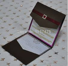 folding wedding invitations hi5010 customized pocket fold invitation cards with ribbon and