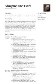 Senior Web Designer Resume Sample Web Project Manager Resume Samples Visualcv Resume Samples Database