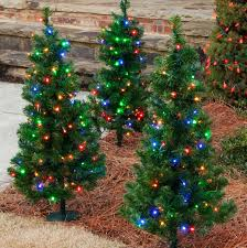 mini christmas tree with lights outdoor decorations 3 walkway pre lit winchester fir tree 100