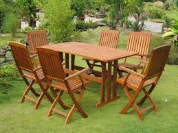 wooden patio furniture set using teak oil for your furniture