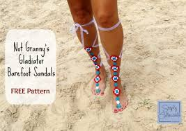 starfish barefoot sandals barefoot sandals and foot adornments to crochet free patterns