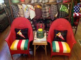 Recovering An Armchair Recover Chair Cushions With An Old Hudson Bay Blanket Like This
