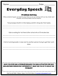 speech therapy worksheet creator everyday speech everyday speech