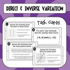 direct inverse variation worksheet worksheets