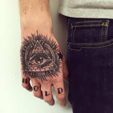 collection of 25 eye pyramid and rays tattoos on