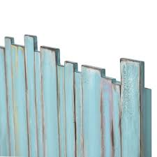 picket fence headboard distressed blue sea winds trading