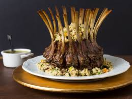 crown roast of lamb with couscous stuffing and pistachio mint