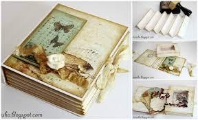Vintage Scrapbook Album Diy Vintage Scrapbook Gift Box