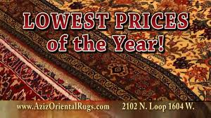aziz oriental rug imports rug sale in san antonio tx youtube