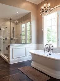 Bathroom With Wood Tile - master bathroom with herringbone wood floor marble shower and