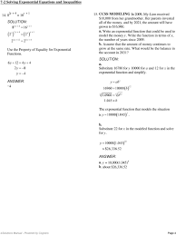 Solving Inequalities Worksheet With Answers Solving Exponential Equations Using Logarithms Worksheet