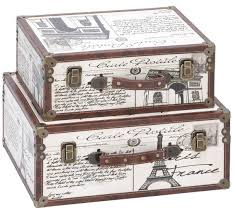 paris decorative suitcase trunks eiffel tower pinterest