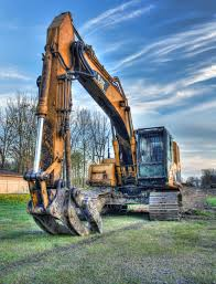 cat excavator construction site sunrise pinterest cat