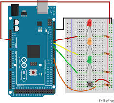 4 way traffic light using arduino traffic light switch on arduino file exchange matlab central