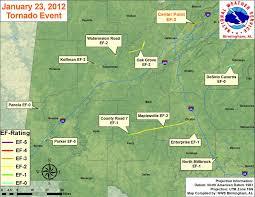 Birmingham Al Zip Code Map by Tornadoes On January 23 2012