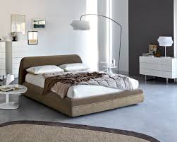with a soft shape and curved lines the supersoft double bed has